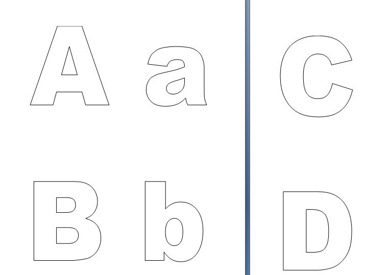 Alphabet Colouring in Sheets (can also be used for displays).
