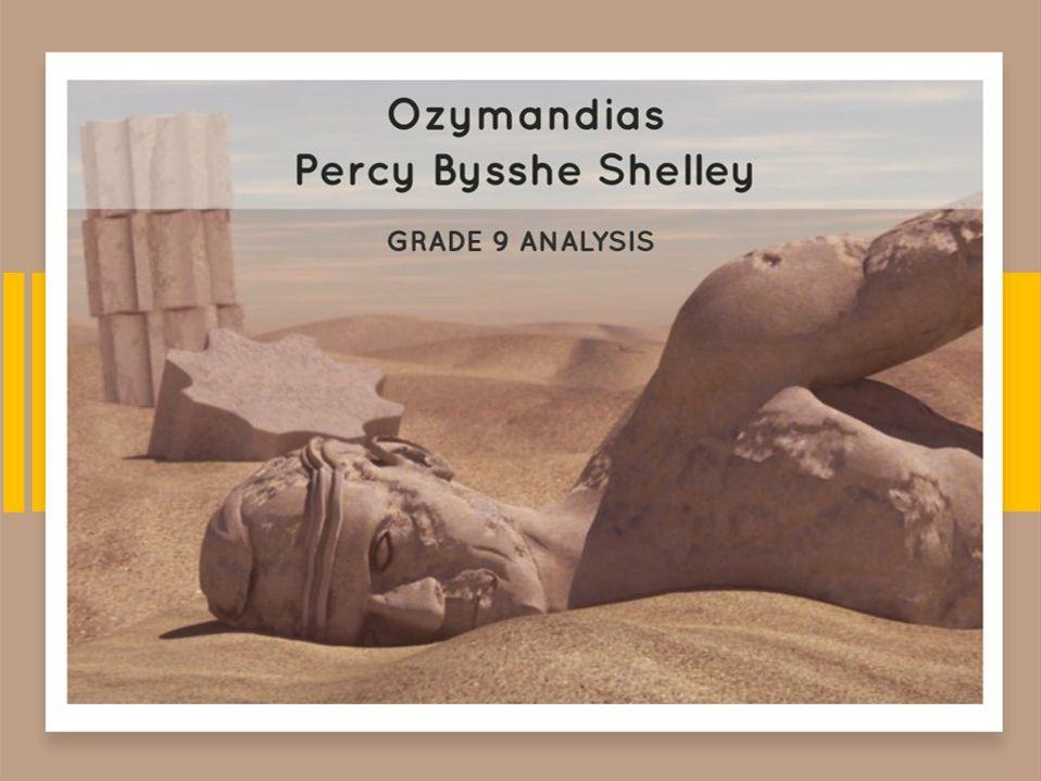 Ozymandias - Grade 9 quotation breakdown & model answers