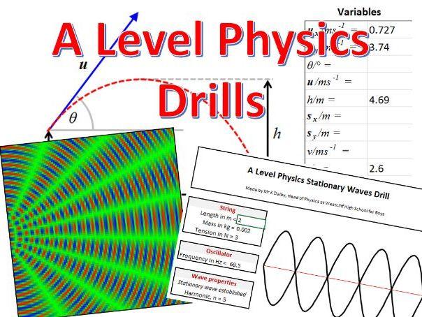 A Level Physics Drills (question generators)