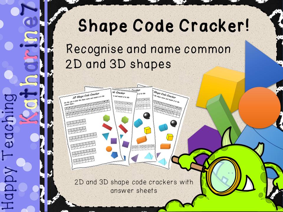 2D and 3D Shape Code Cracker
