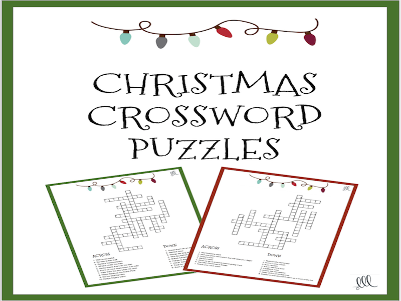 Christmas Crossword Puzzle.Christmas Crossword Puzzles