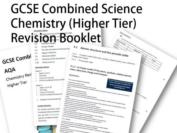 GCSE AQA Combined Science Chemistry Revision Booklet