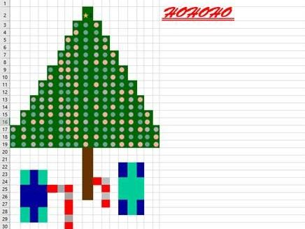 Excel Conditional Formatting Christmas Tree Fun