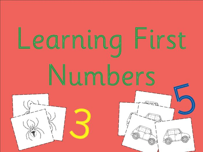 LEARNING FIRST NUMBERS