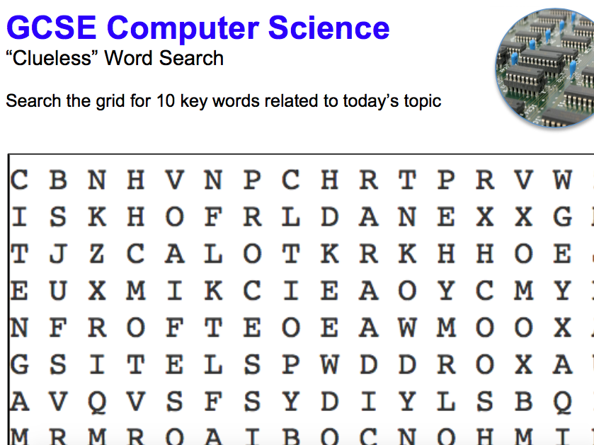 Computer Science key term game (12 topics)