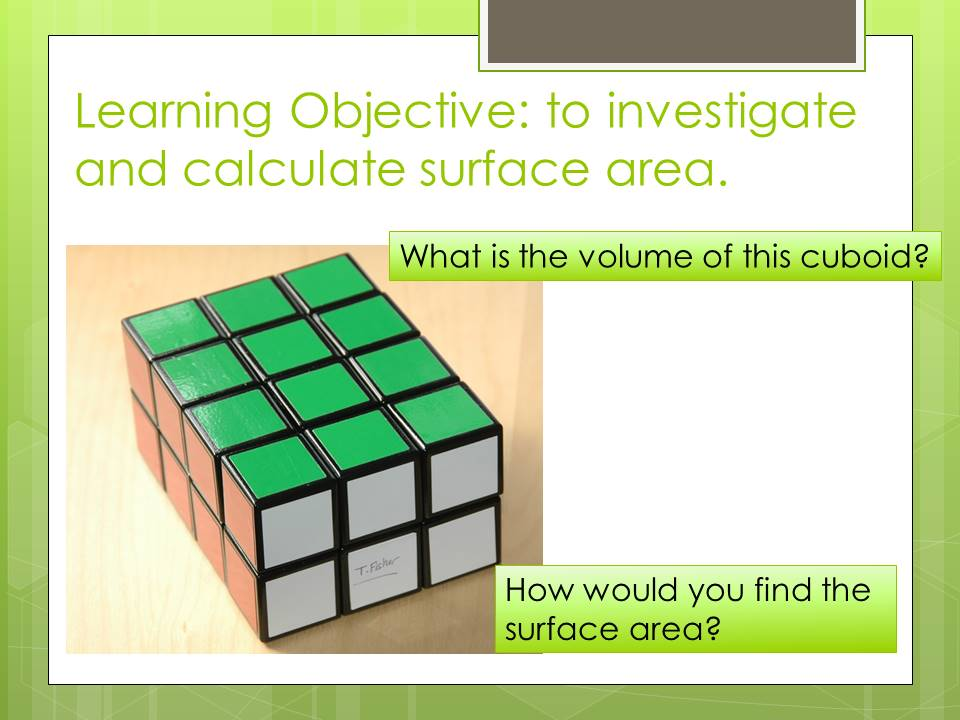 Surface Area Introduction with Extension