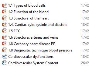 OCR Cambridge Technical Level 3 Health and Social Care Unit 4 - Anatomy - cardiovascular system