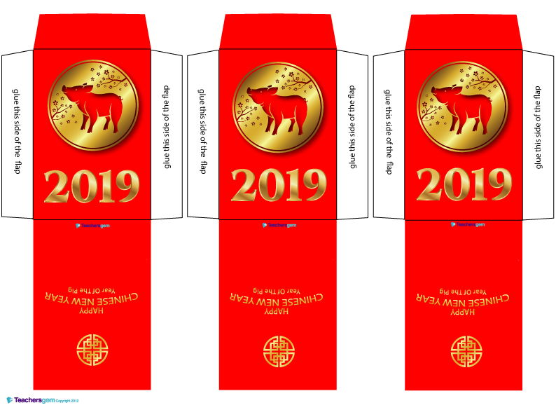 CHINESE NEW YEAR 2019 - LUCKY MONEY PACKET