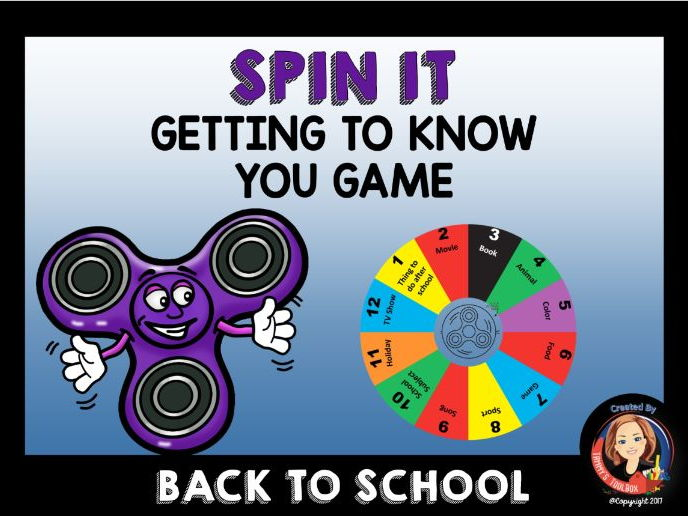 Spin It Getting to Know You Game
