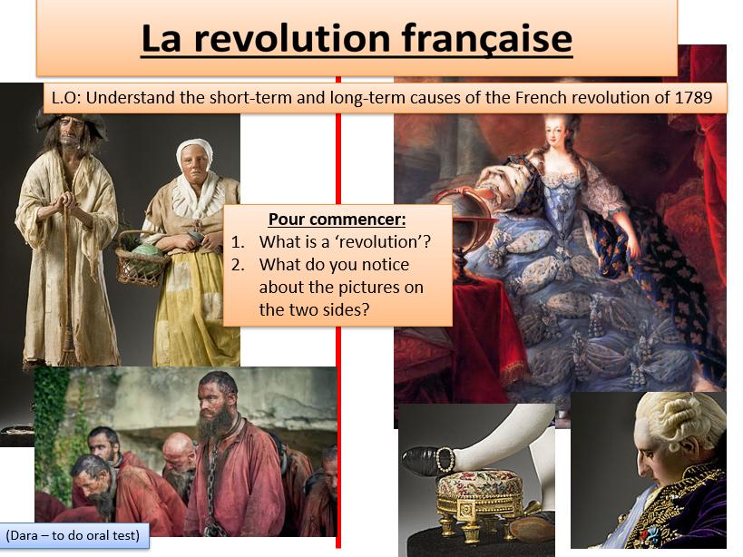 French KS3 French Revolution