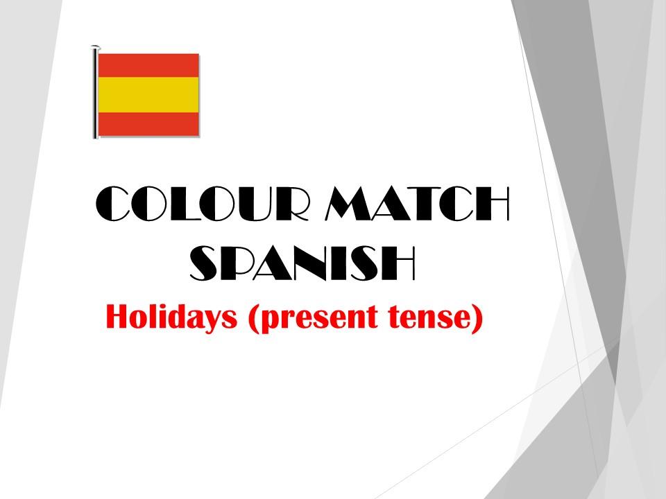 Spanish Holidays - Colour Match