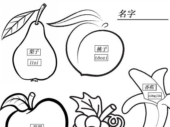 paint and glue fruit / 涂色水果