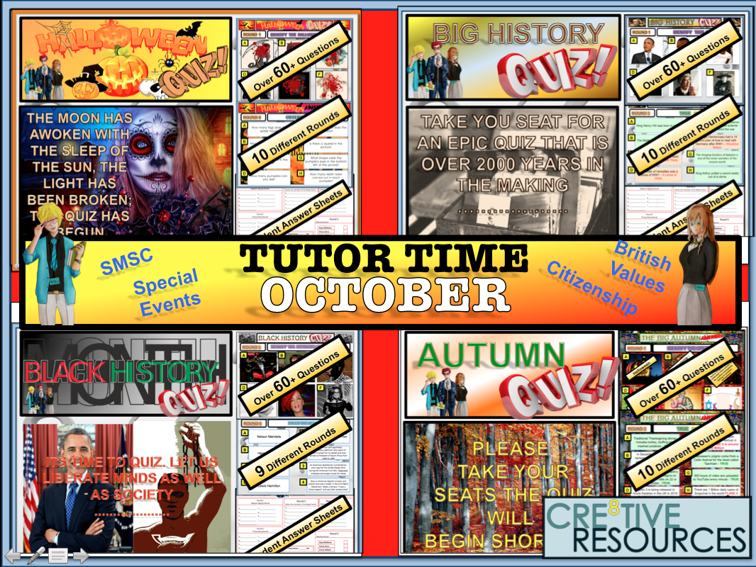 October Tutor time Package 2019