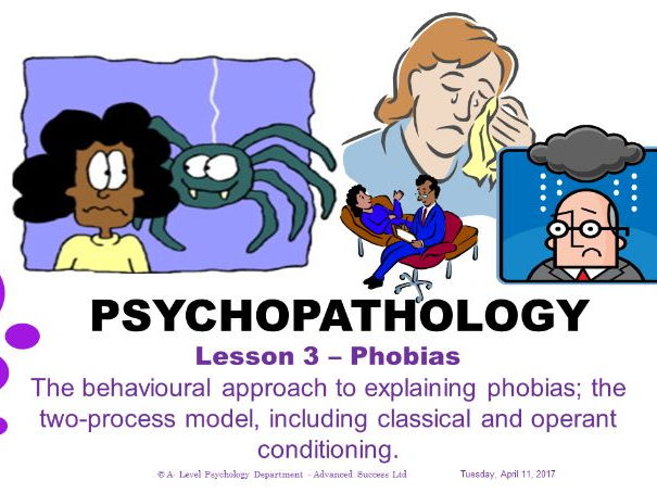 Powerpoint - Psychopathology - Lesson 3 - Phobias- The behavioural approach to explaining phobias