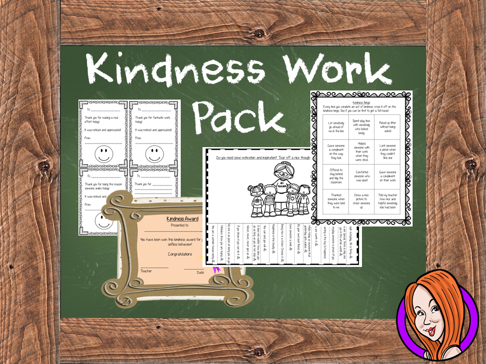 Kindness Worksheets