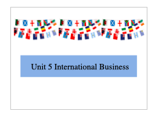 BTEC Business L3 Unit 5 International Business Learning Aim A - Lesson Theory powerpoint