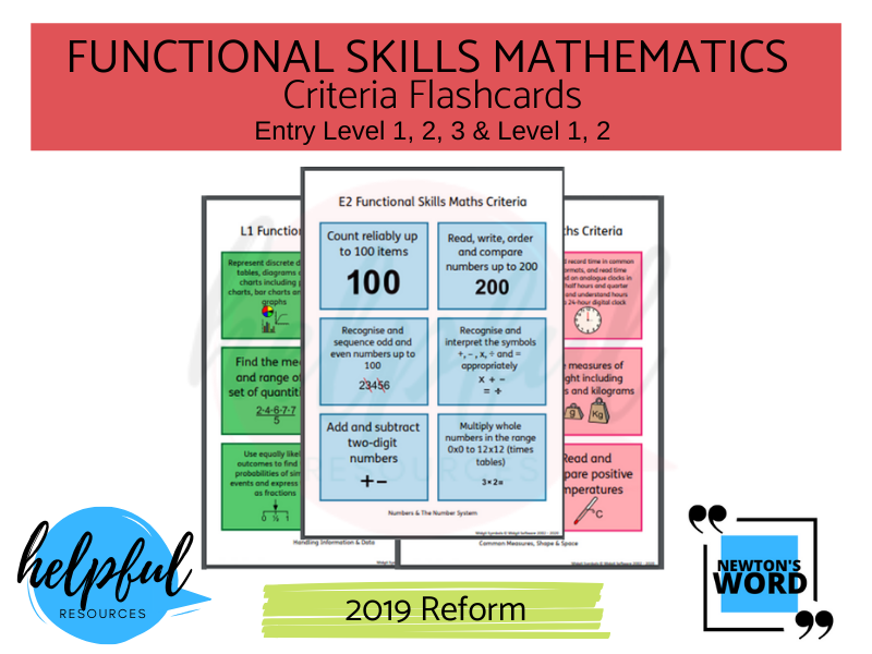 Functional Skills Maths Criteria Flashcards