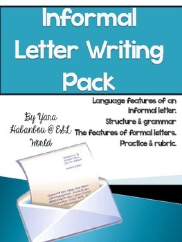 Informal letter guided writing pack esl grades 4 6 by cover image spiritdancerdesigns Choice Image