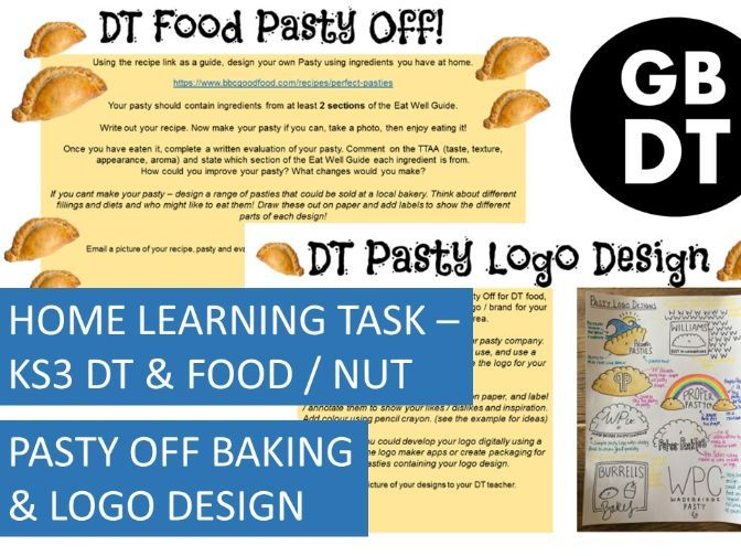 FREE - Home Learning task: KS3 DT - Pasty Off!