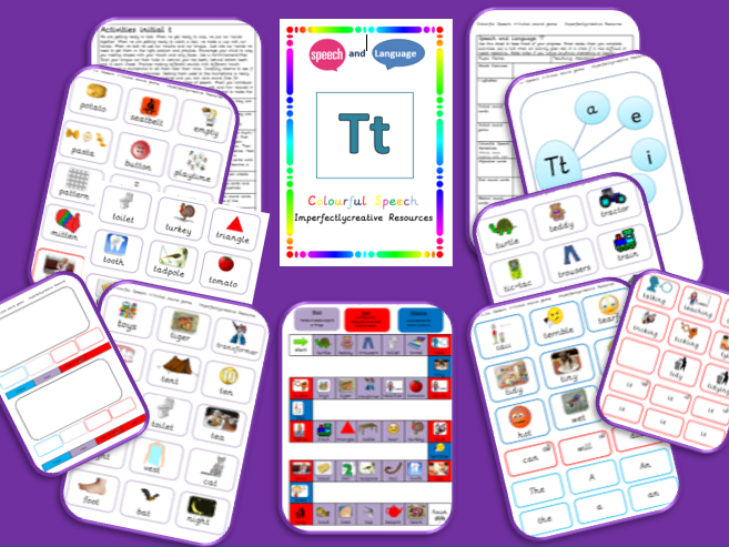 Sound/Phoneme  'T' resources - Initial, Medial and End Position