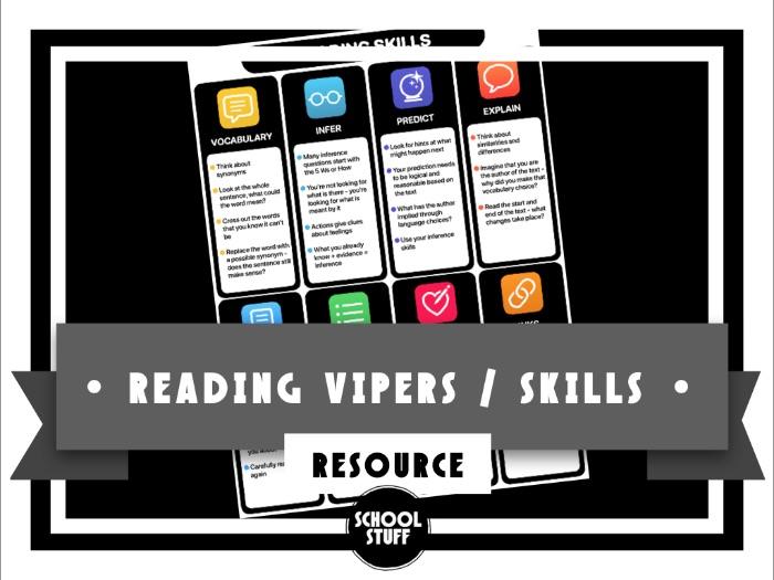 Reading Skills - Strategy Sheet