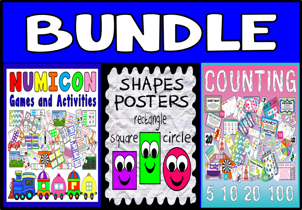 *BUNDLE* EARLY YEARS MATHS BUNDLE - SHAPES NUMICON AND COUNTING