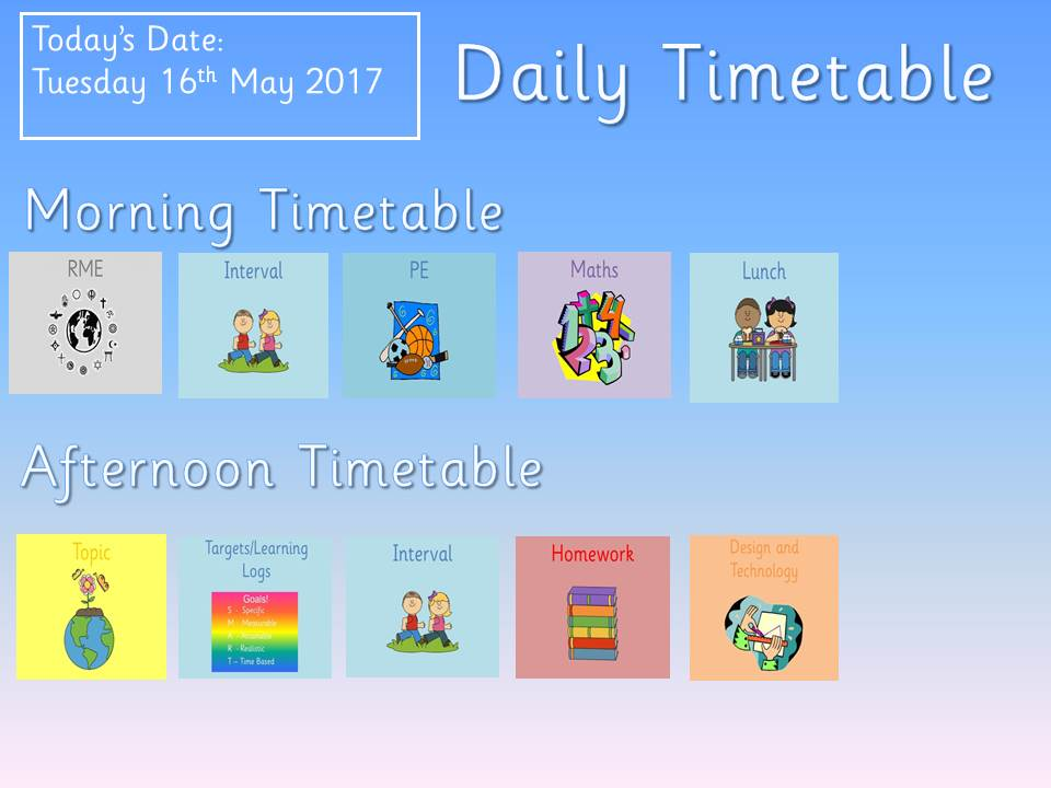 Editable Daily Timetable By Pammyc - Teaching Resources - Tes