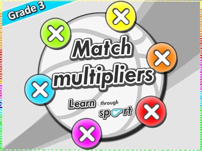 P.E game with multiplication task cards - Learn Math through sport