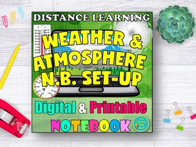 Weather Climate and Atmosphere Distance Learning Bundle