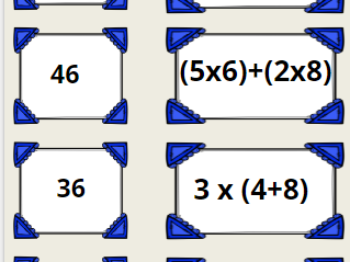Years 5 and 6 Order of Operations- Simplifying Expressions Game -5.OA.1