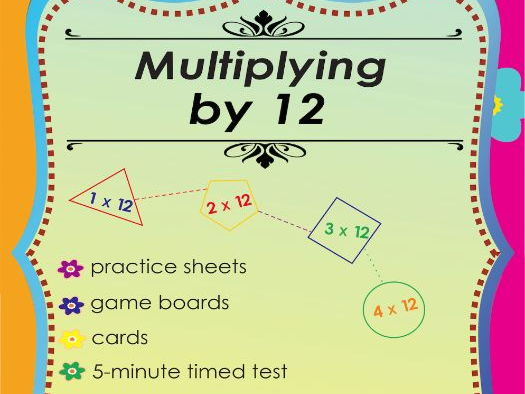 Multiplying by 12 - Multiplication Math Games and Lesson Plans