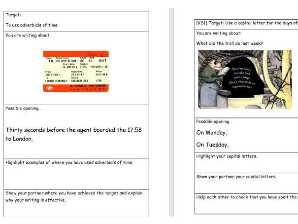 key stage 2 and 3 15-minute writing task teaching sequence and activities