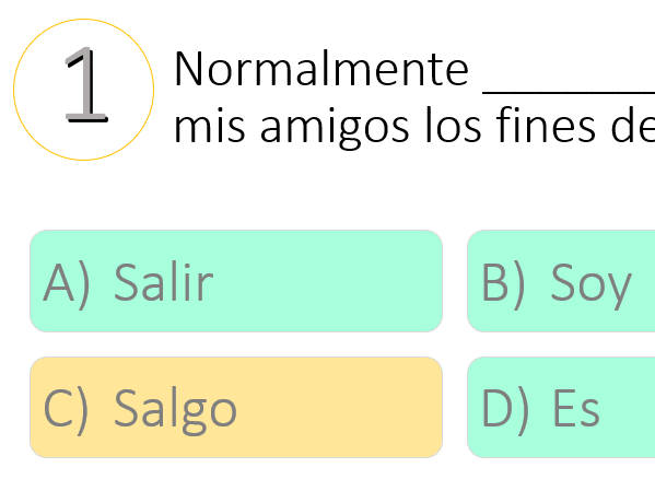Spanish Quizz (Grammar and vocabulary revision)