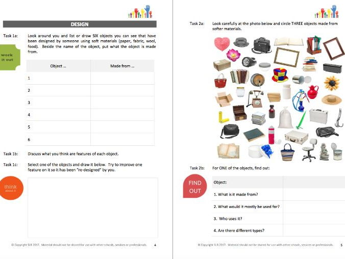 DESIGN IT (2) - SOFTER MATERIALS workbooklet