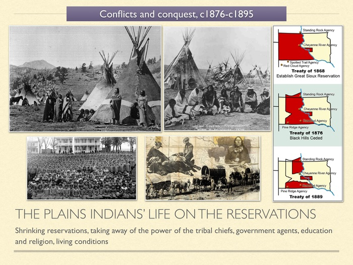 GCSE History of American West in 1800s Unit 3 The Plains Indians life on reservations