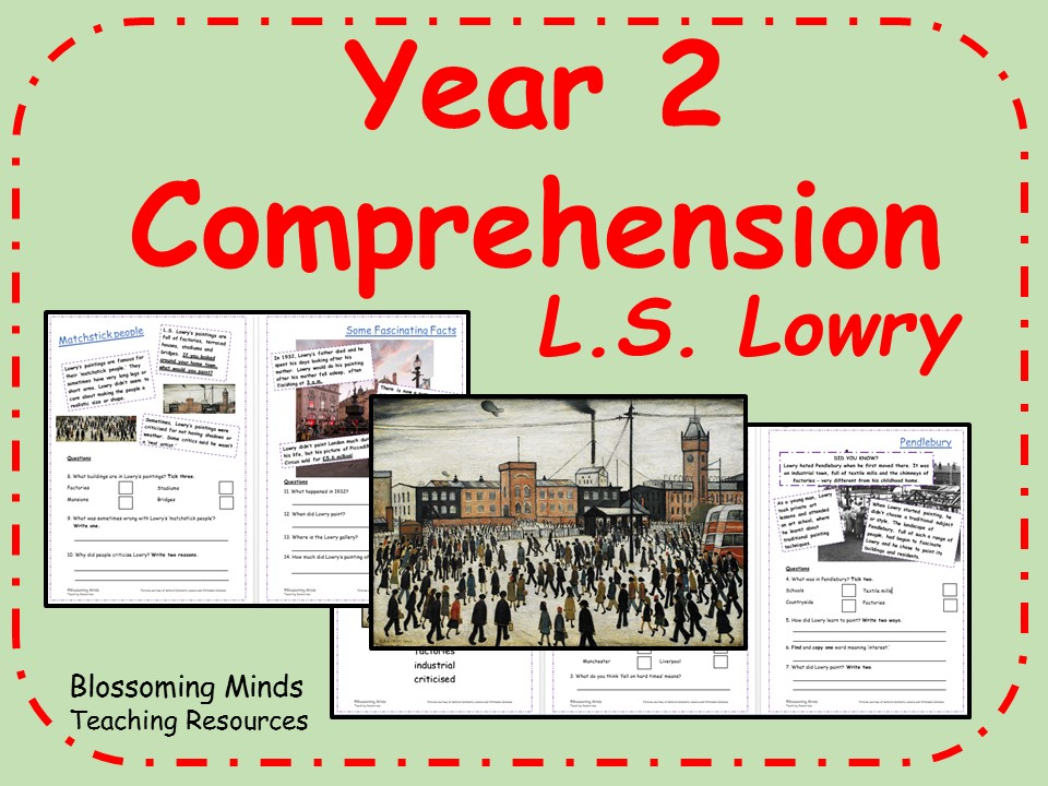 Year 2 Reading Comprehension - L.S. Lowry