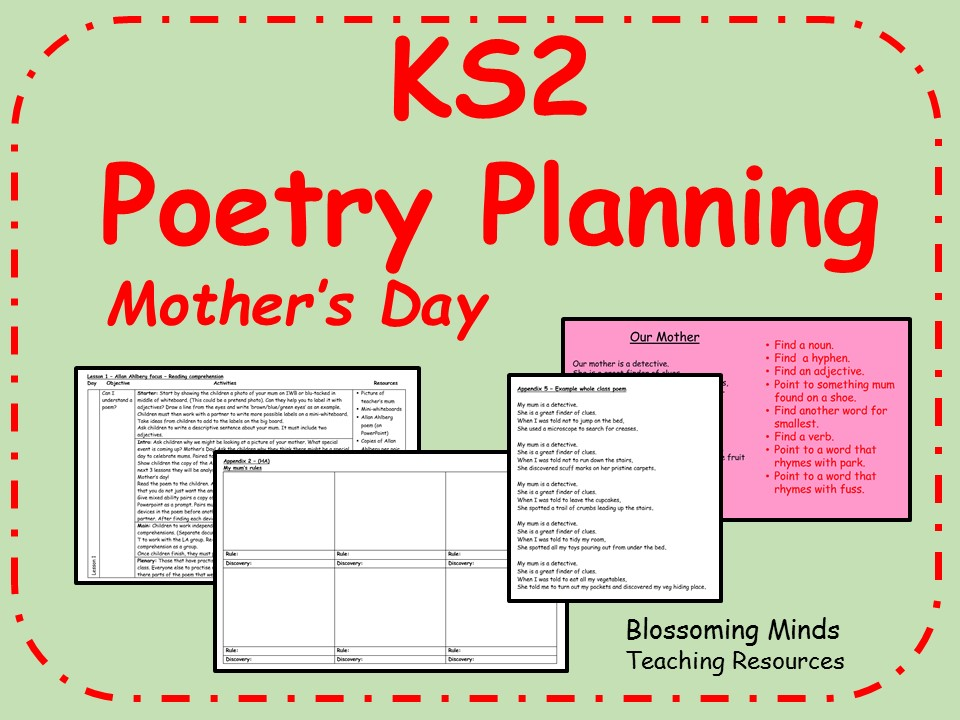 Key Stage 2 Poetry - Mother's Day