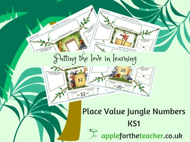 Place Value Jungle Numbers Year 2 write in different forms