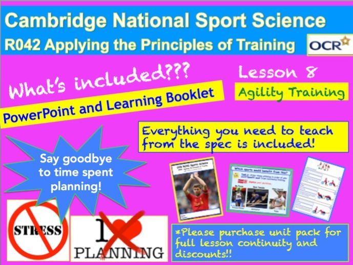 Cambridge National Sports Science R042: Describe agility-training methods.