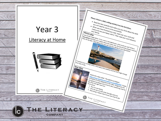 Literacy learning from home - Year 3