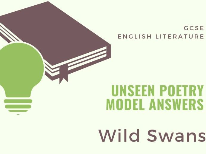 Model Answer: Unseen Poetry - The Wild Swans