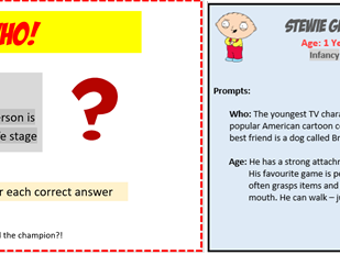 Life Stages 'Guess Who' Card Game - BTEC Health and Social Care Tech Award L 1/2 - Human Lifespan