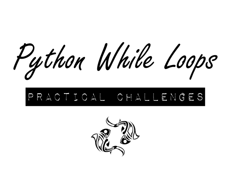Python While Loop Practical Challenges