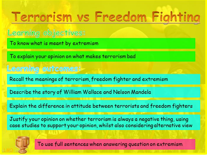 Extremism: Terrorism vs Freedom Fighting