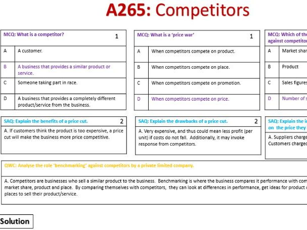 A265 GCSE Business Revision Quizzes