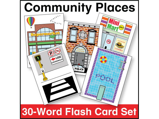 Community Places Flash Card Set