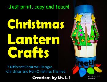 Christmas Lantern Crafts  ::  Christmas Activity  ::  Fine Motor Skills