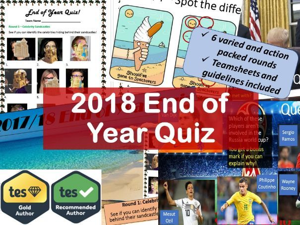The Ultimate 2018 End of Year Quiz.