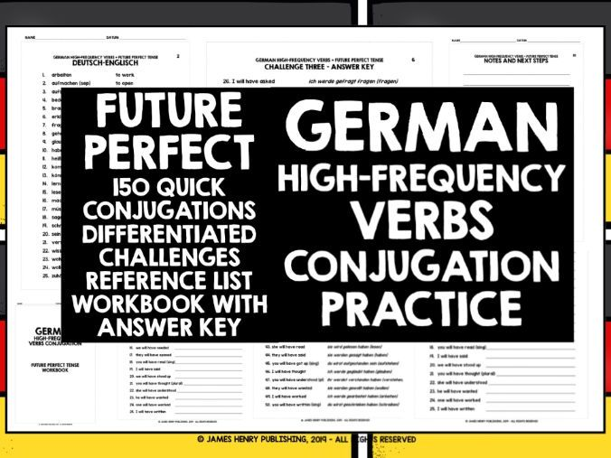 GERMAN HIGH-FREQUENCY VERBS CONJUGATION #7