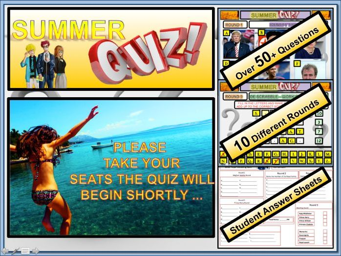 Summer Quiz! End of Term